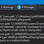Suppress Warning WMPLib